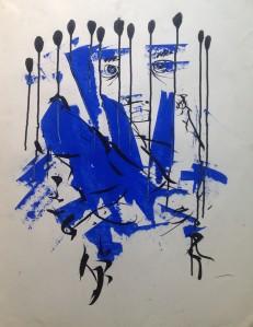 Peinture Bleue TL.