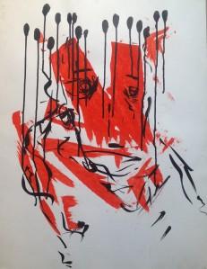 Peinture rouge TL.