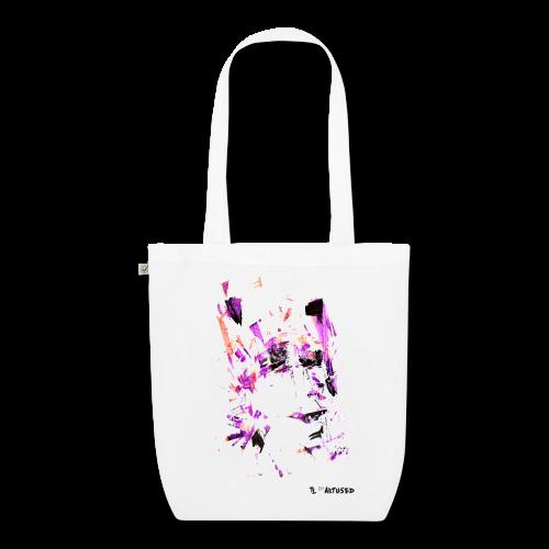 "Tote bag motif ""Violet Moaï"""
