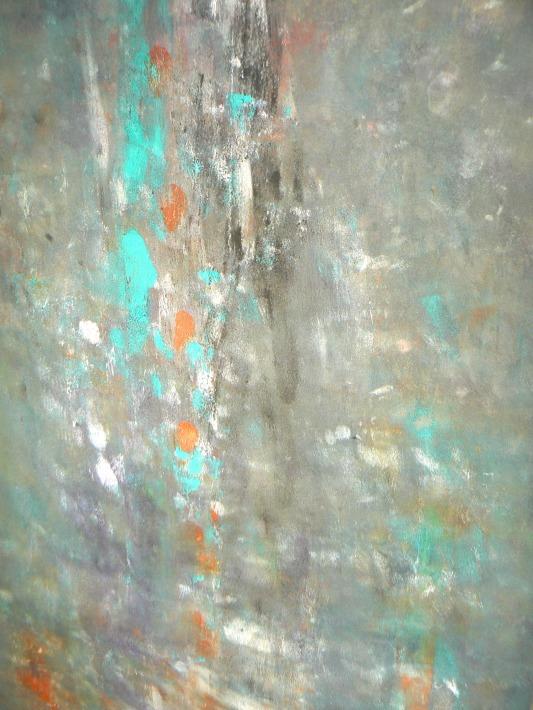 """""""Paysage abstrait"""" Papier ARCHESFormat 70x100 Acrylique, gouache, encre de Chine Théo Lerebourg, Août 2017"""