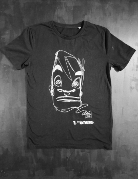 "T-shirt black men design "" Golden Boy "" by Théo Lerebourg"