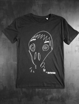 "T-shirt black men design "" Skull "" by Théo Lerebourg"