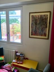 collages peintures fond